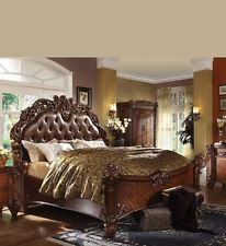 Cute Formal Luxury Antique Vendome Cherry Eastern King Size Bed Bedroom Furniture antique bedroom furniture
