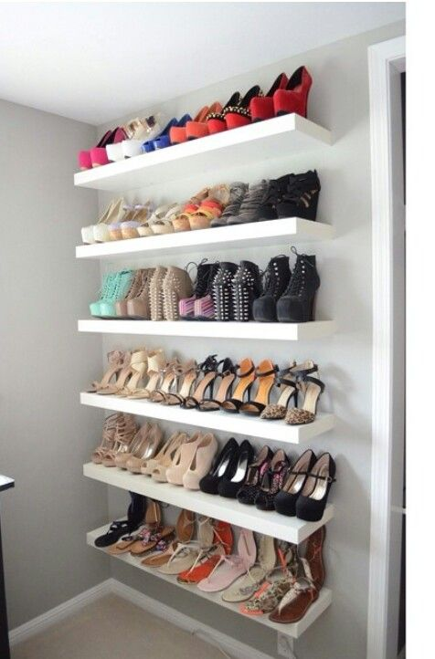 Cute Friday Favorites. Shelves For ShoesShoe WallShoe ... wall mounted shoe racks for closets