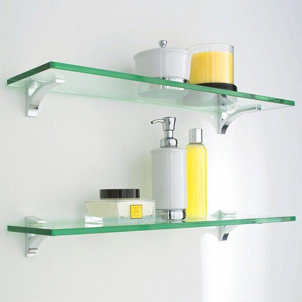 Cute Glass Shelf Clip Kits glass shelving for bathroom