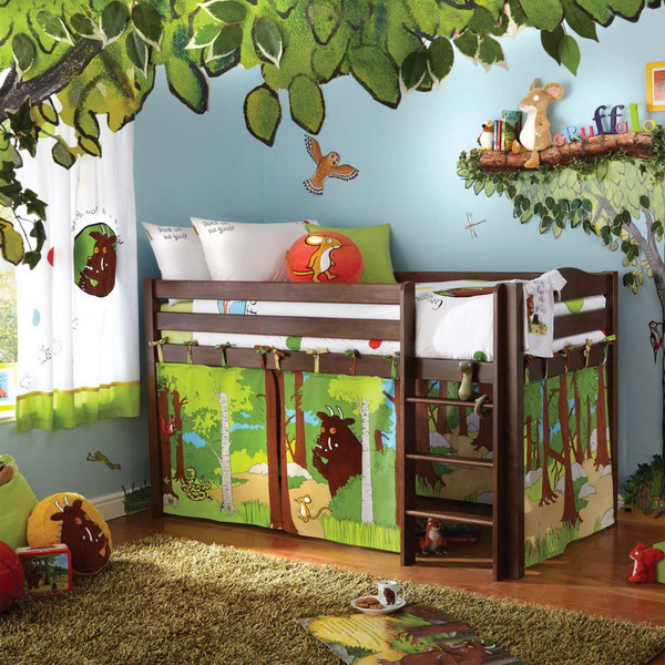 Cute Kids Bedroom Furniture Sets with Jungle Bedroom Theme childrens themed bedroom furniture