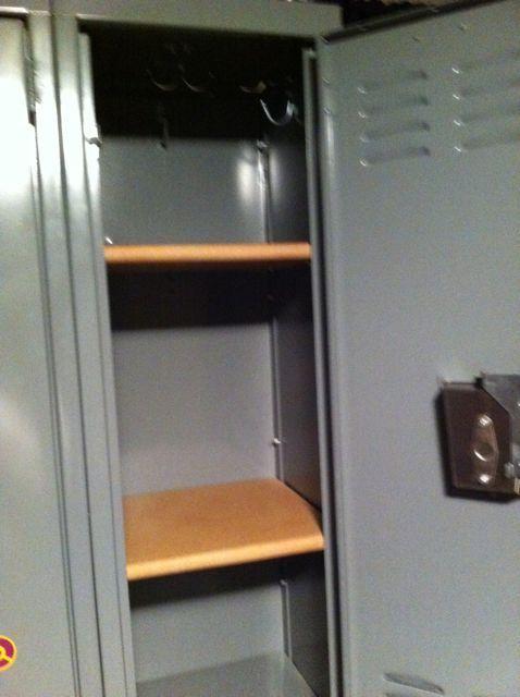 Cute Locker Shelves! #Locker #shelf #storage wooden locker shelves