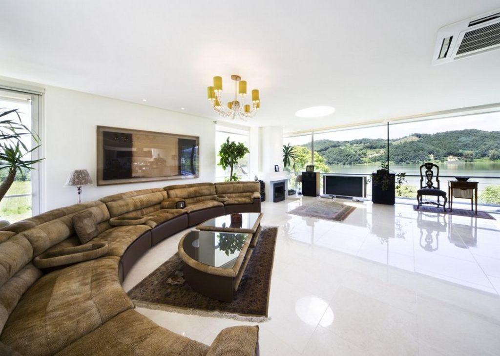 Cute Modern Living Room | ... Modern Floating House in South Korea large living modern large living room designs