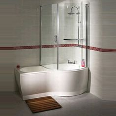 Cute P Shaped Shower Baths Where Creativity Combines Functionality p shaped bath shower screen