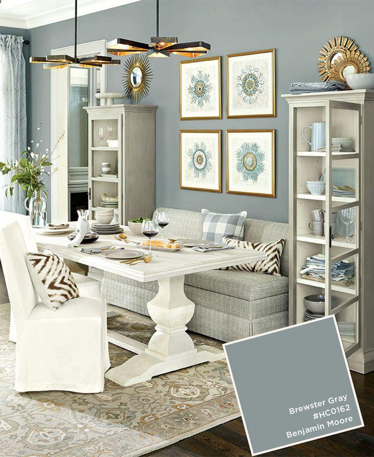 Cute Paint Colors from Ballard Designs Winter 2016 Catalog. Gray Dining RoomsDining  Room living room dining room paint colors