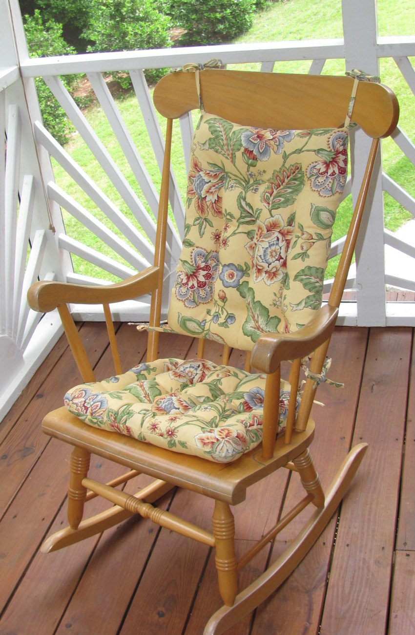 Cute Rocking Chair Cushion Sets and More - CLEARANCE!! outdoor rocking chairs with cushions