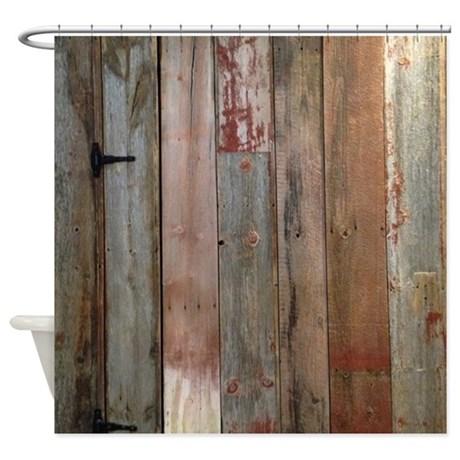 Cute rustic western barn wood Shower Curtain rustic shower curtains