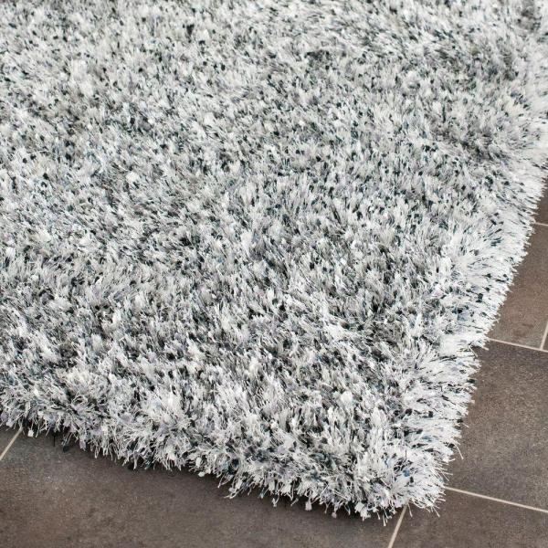 Cute Safavieh Malibu Shag Silver 6 ft. x 9 ft. Area Rug-MLS431S-6 - The white and gray shag rug