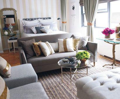 Cute seating arrangements studio apartment furniture