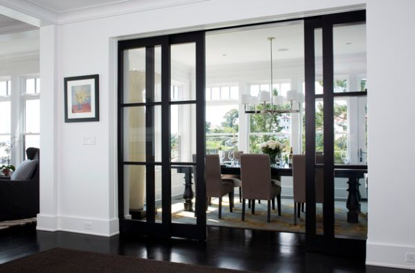Cute View in gallery Elegant dining area concealed by sliding glass doors in interior sliding glass doors