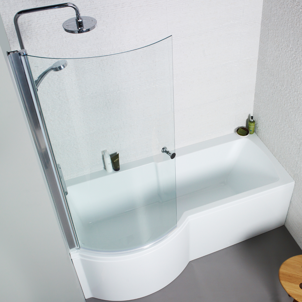 Cute White Acrylic 1700mm Front Bath Panel For P Shaped Shower Baths replacement p shaped bath panel
