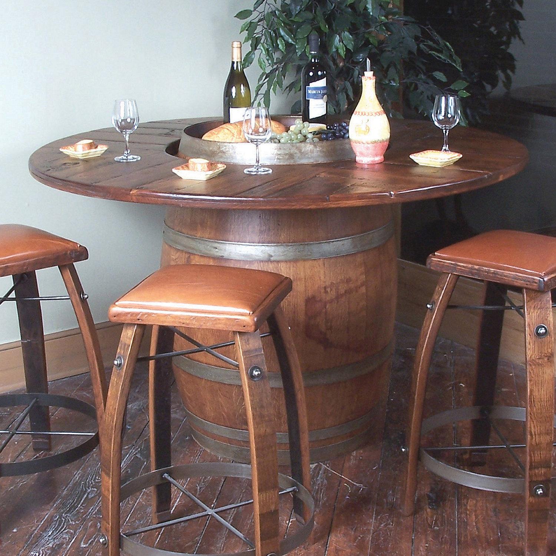 Cute ... Wine Barrel Bistro Table. Preparing Zoom wine barrel furniture