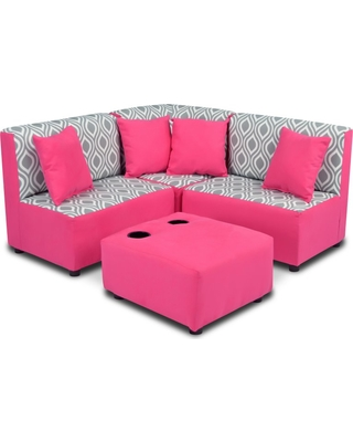 Cute Zippity Kids Sectional Sofa Set - Nicole Storm Twill kids sectional sofa