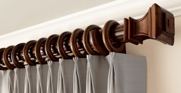 Cozy Wood Trends® ClassicsThe classic allure of rich wood finishes completes an decorative wooden curtain rods