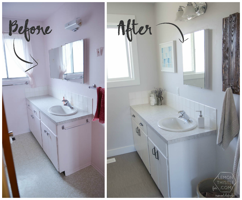Cool DIY Bathroom Remodel on a Budget (and thoughts on renovating in phases) ... diy bathroom renovation