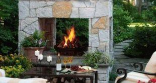 Elegant 20 Outdoor Fireplace Ideas diy outdoor fireplace