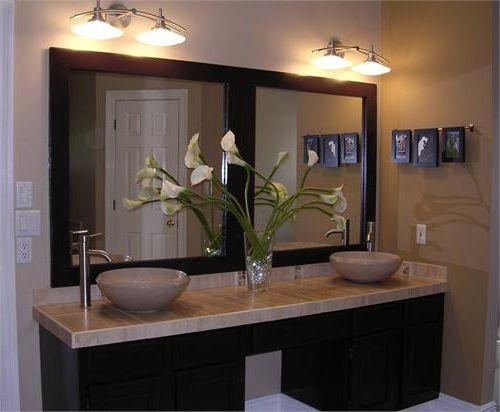 Cozy Double Vanity Mirrors For Bathroom Photos A Home Is Made Of Love double vanity bathroom mirrors