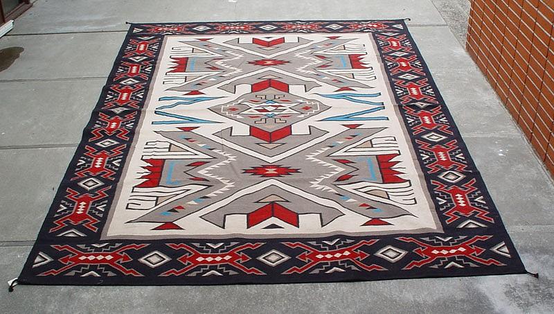 Elegant 01 - Navajo Textiles, 10u0027 x 14u0027 Southwest Area Rug; Navajo Teec southwestern style rugs