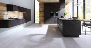 Elegant ALNOSTAR CERA - the new ceramic kitchen from ALNO UK in Oxide Nero alno ceramic kitchen