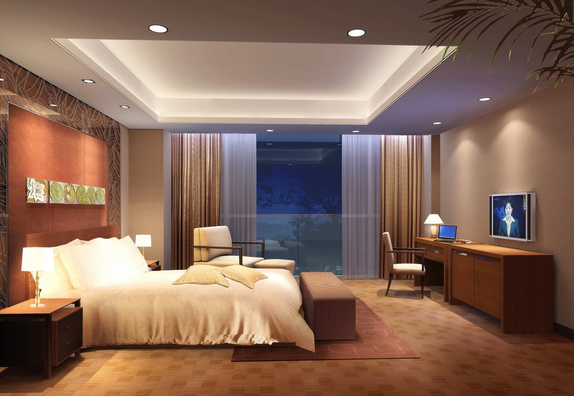 Elegant Bedroom Ceiling Lights with Shiny Modern Styles - http://www.designingcity. master bedroom ceiling lights