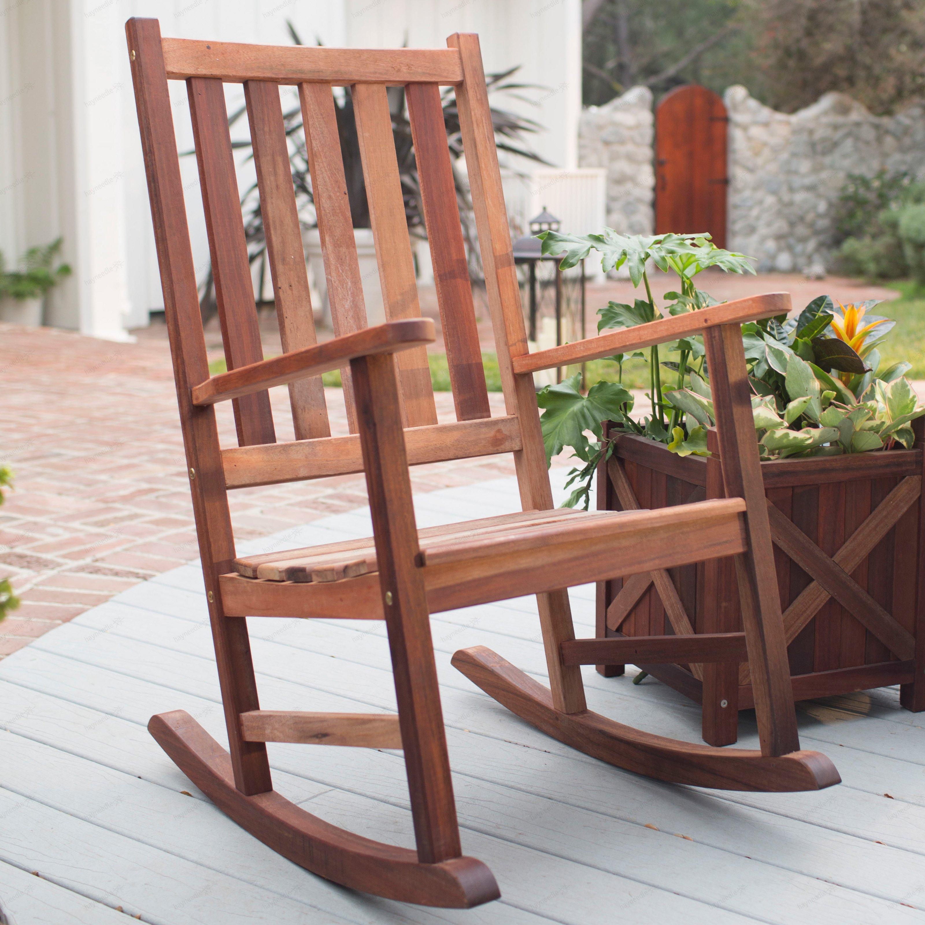 Elegant Belham Living Richmond Heavy-Duty Outdoor Wooden Rocking Chair - Walmart.com outdoor wooden rocking chairs