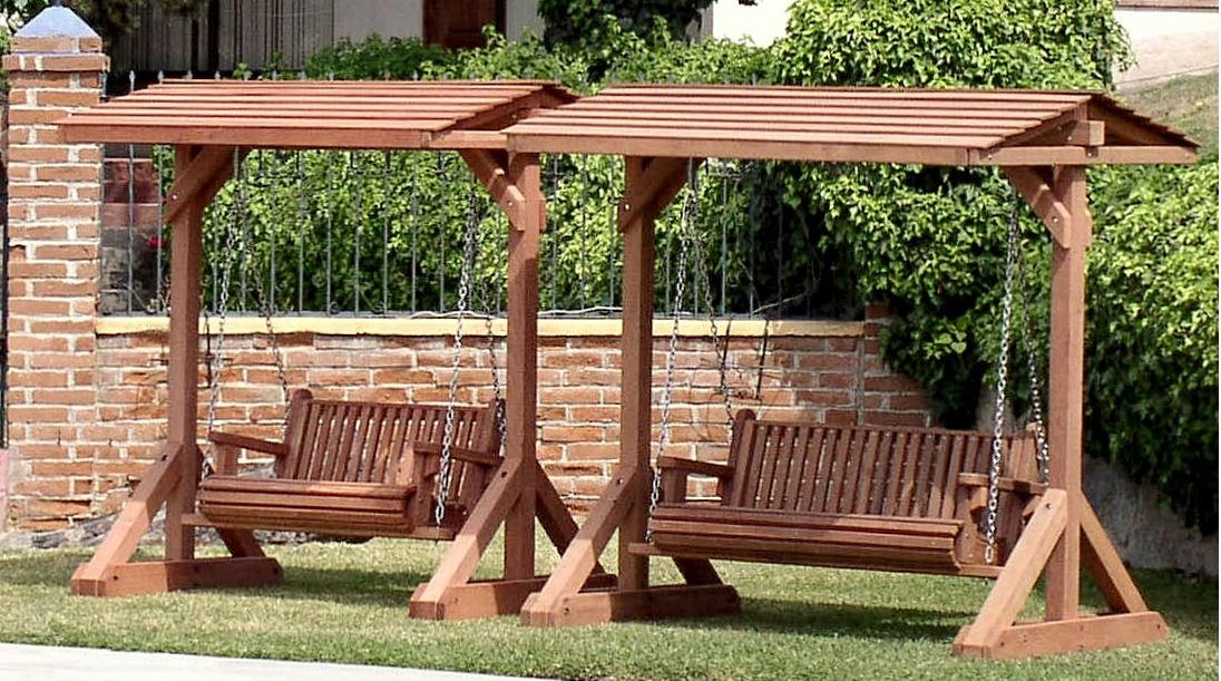 Elegant Bench Swing (seats 2 adults), Large Bench Swing (seats 3 adults) wooden garden swings for adults