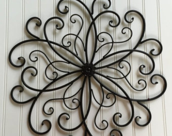 Elegant Black Metal Wall Hanging / Large Metal Wall Decor / Decorative Wall metal wall decorations