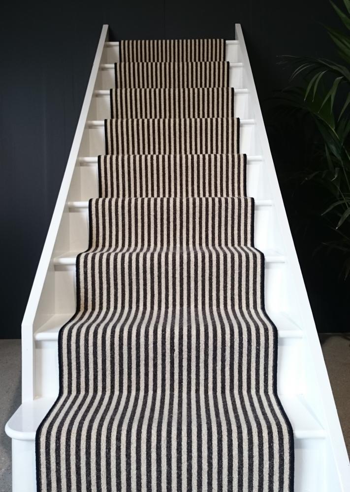 Elegant Black u0026 White Stripe Stair Runner Stairs Pinterest 736x1001 · Striped ... black and white stair runner