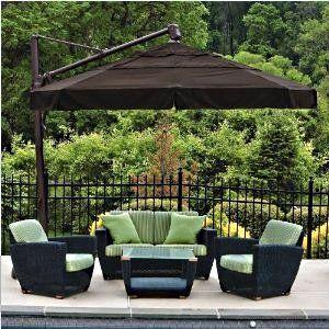 Elegant Cantilever Patio Umbrellas. Outdoor ... outdoor patio umbrellas