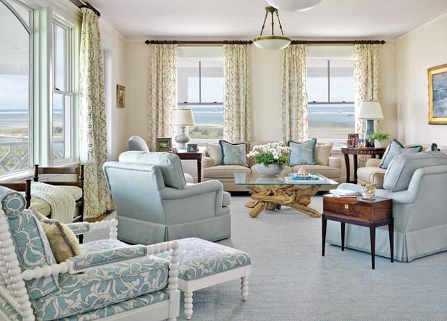 Elegant LIVING ROOM u0026 FAMILY ROOM - Another great example of elegant design for elegant coastal living rooms