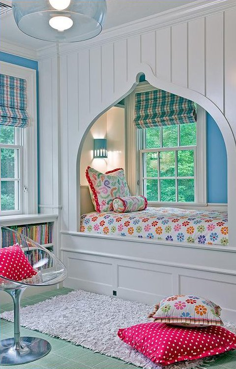 Elegant cute-teen-girl-room-with-window-bed.jpg cute teenage girl room ideas