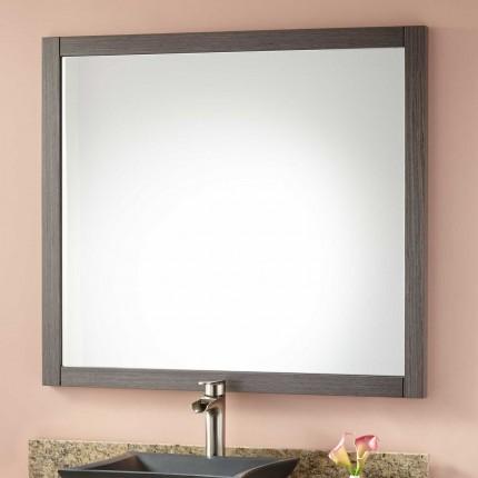 Elegant Everett Vanity Mirror - Ash Gray framed bathroom vanity mirrors