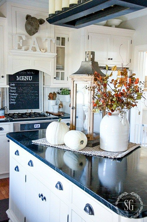 Elegant FALL HOME TOUR, PART 2. Fall Kitchen DecorKitchen IdeasDecorating ... decorating ideas for kitchen counters