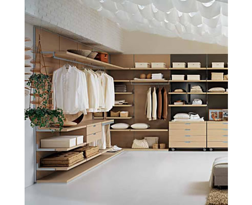 Elegant FEG Wardrobe System at Wonderful Kitchens open wardrobe system