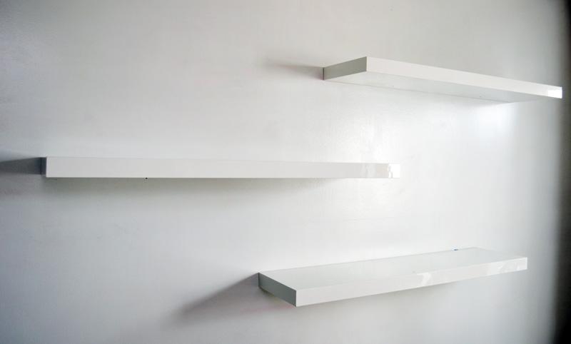 Elegant Floating Shelves White : floating shelves white floating shelves