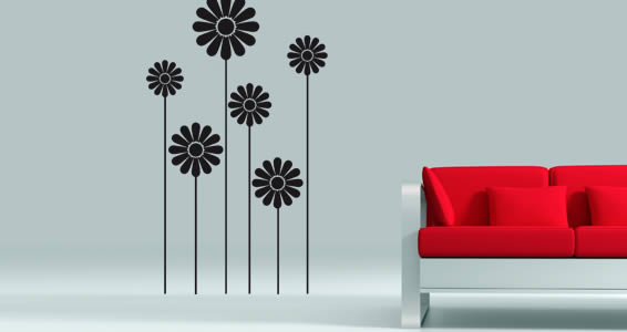 Elegant Flowers wall decals flower wall stickers