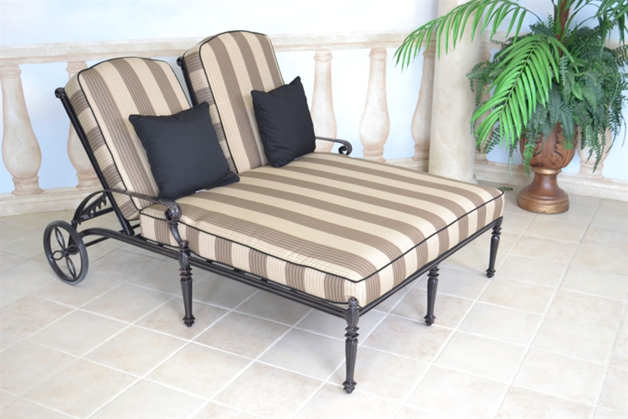 Elegant Grand ... double chaise lounge outdoor