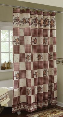 Elegant Hearts and Stars Shower Curtain rustic country shower curtains