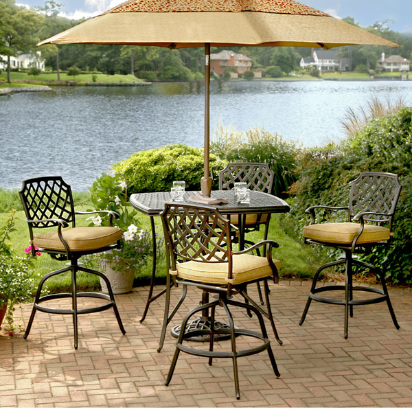 Elegant Heritage Bar Height. Provide Luxury u0026 Comfort with a Patio Set From the 5 piece bar height patio set