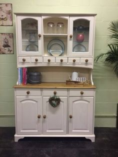 Elegant Large Solid Pine Hand Painted Shabby Chic Welsh Dresser Farrow u0026 Ball welsh dresser shabby chic