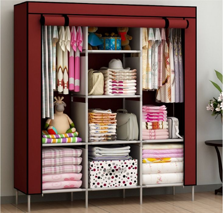 Elegant New Portable Bedroom Furniture Clothes Wardrobe Closet Storage Cabinet  Armoires portable wardrobe closet