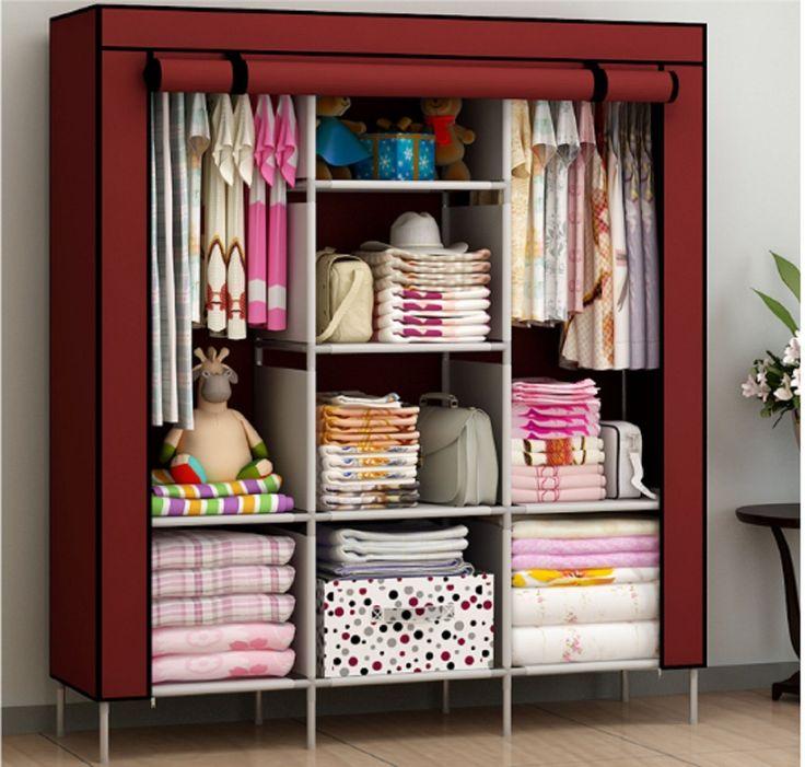 Elegant New Portable Bedroom Furniture Clothes Wardrobe Closet Storage Cabinet  Armoires portable wardrobe closet