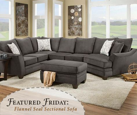 Elegant Not much gets better than a comfy oversized cuddler! We are loving this gray sectional sofa