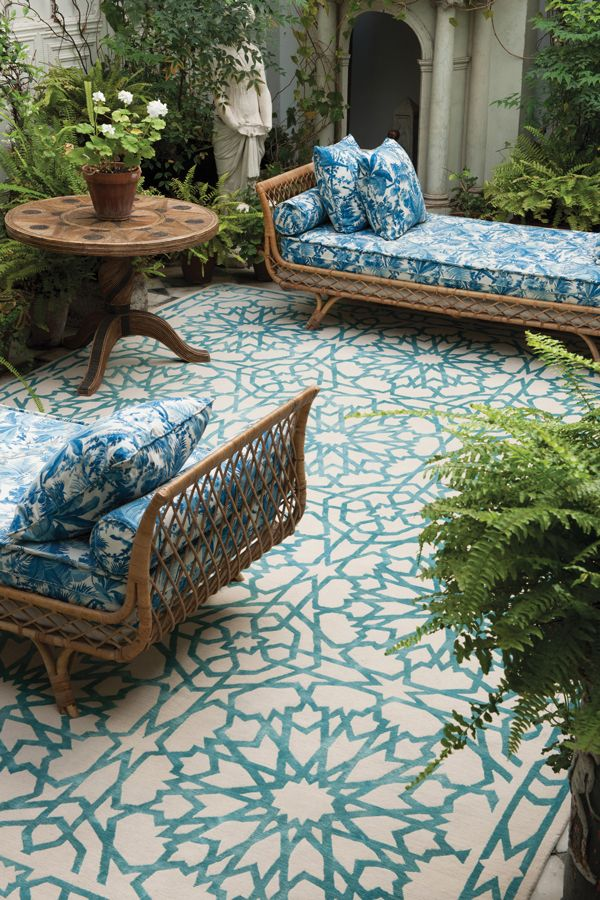 Elegant Outdoor Daybed, Outdoor Rugs, Outdoor Spaces, Outdoor Furniture, Outdoor  Tiles Patio, Chaise outdoor rugs for patios