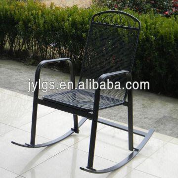 Elegant Outdoor Garden Metal Mesh Rocking Chair outdoor metal rocking chairs