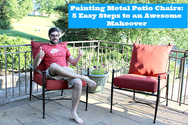 Elegant Painting Metal Patio Chairs painting outdoor metal furniture