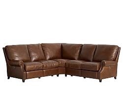 Elegant Quicklook leather sectional sofa