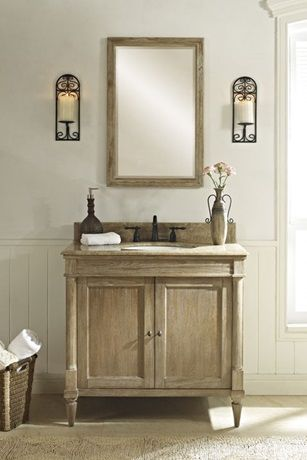Elegant rustic chic powder room vanity powder room sinks and vanities