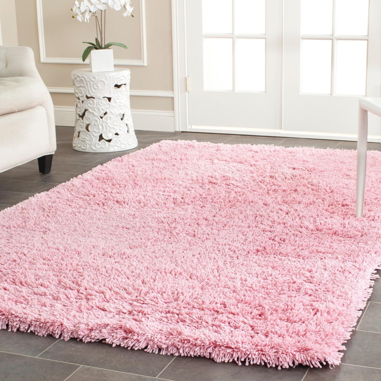 Elegant Safavieh Classic Ultra Handmade Pink Shag Rug (8u00276 x ... pink fluffy rug