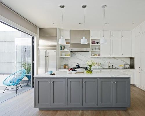 Elegant SaveEmail grey and white kitchen designs