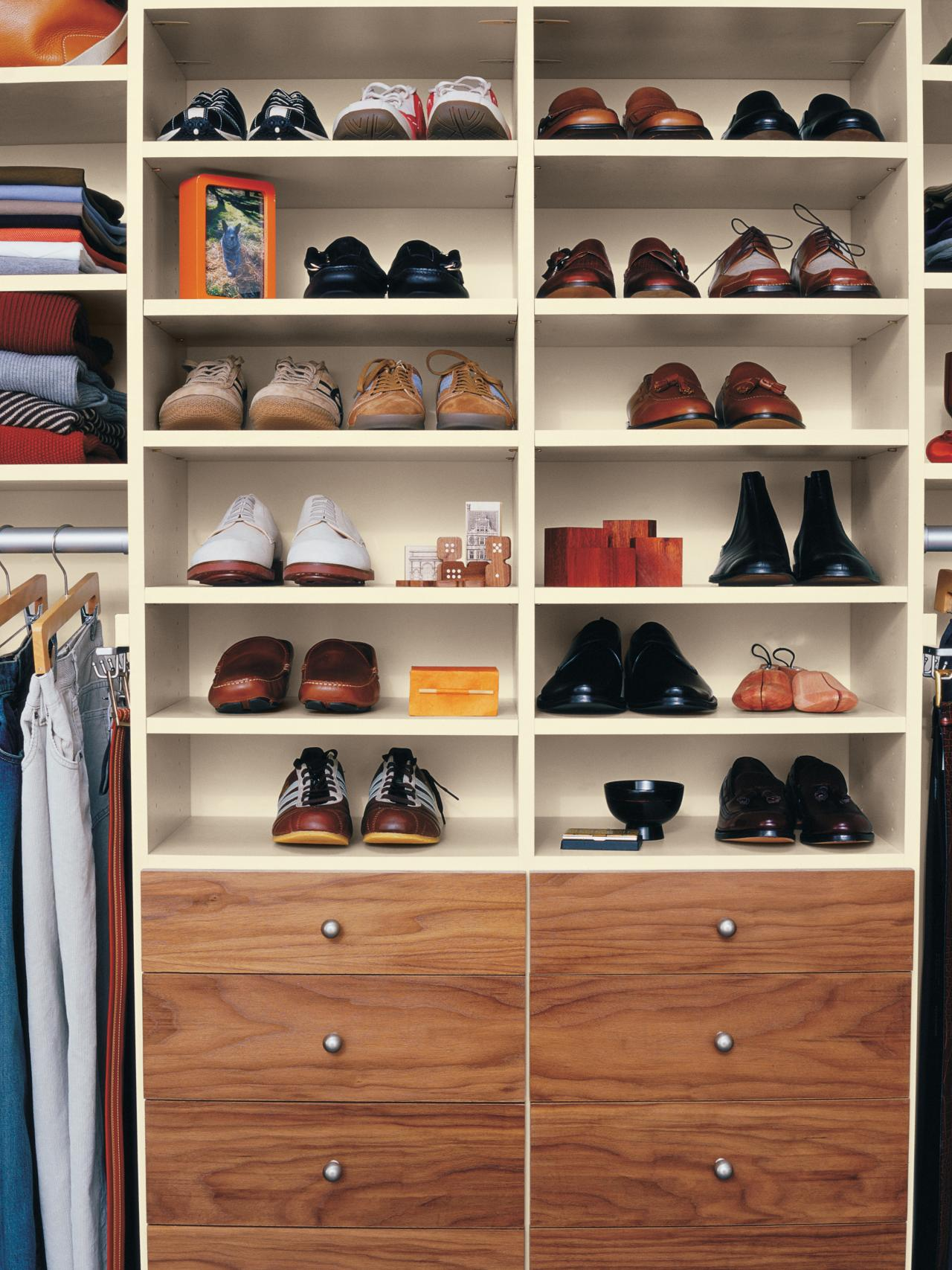 Elegant Shoe Racks for Closets wooden shoe racks for closets